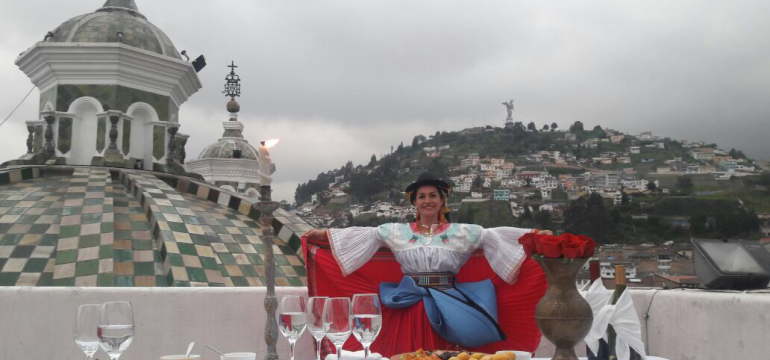 Dine on top of Quito