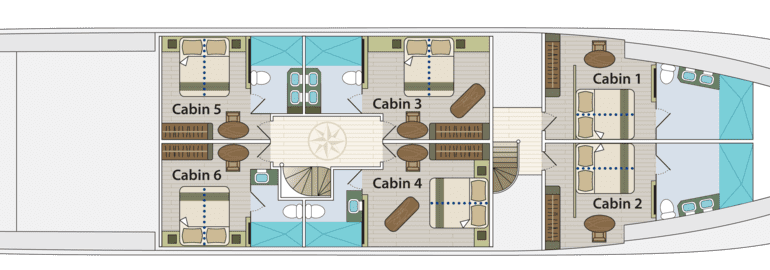 Grand Majestic - First-Class Galapagos Cruise (Lower Deck Plan)
