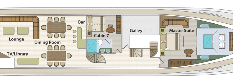 Grand Majestic - First-Class Galapagos Cruise (Main Deck Plan)
