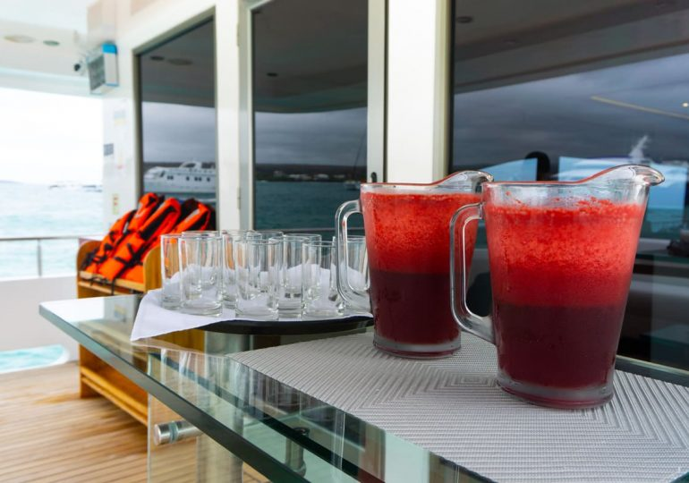 Grand Majestic - Porch- Welcome Drinks- Galapagos First-Class Cruise