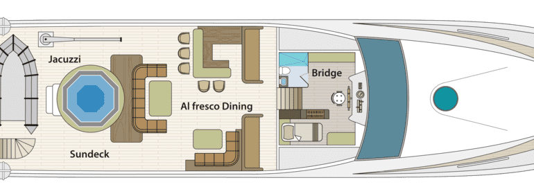 Grand Majestic - First-Class Galapagos Cruise (Sundeck Plan)